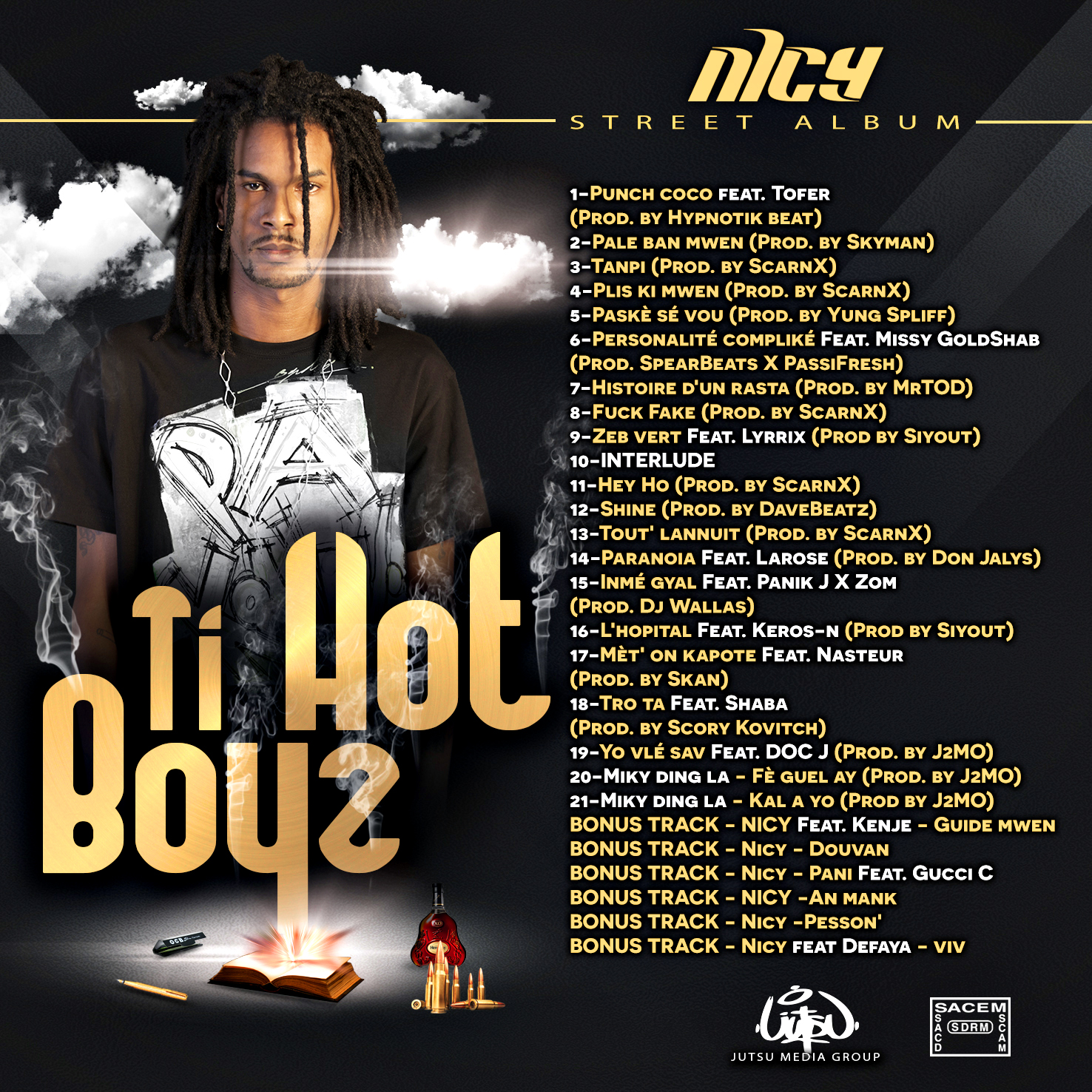 Ti Hot BoyZ -NICY- street album (back)